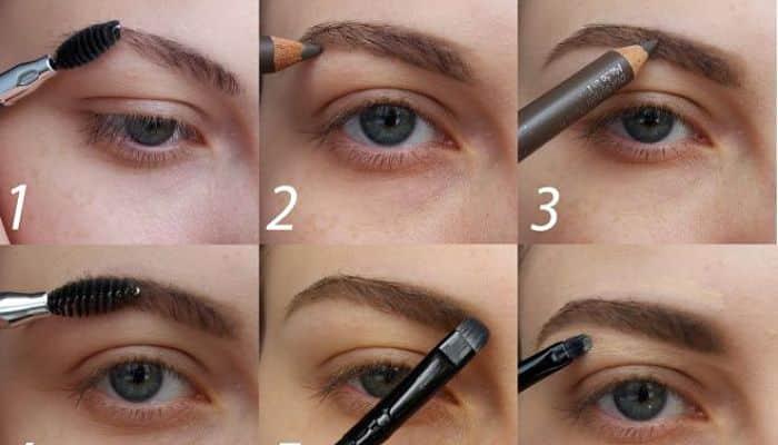 Técnica para el lapiz de cejas