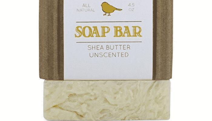 Jabón sin fragancia de pájaro amarillo para pieles sensibles