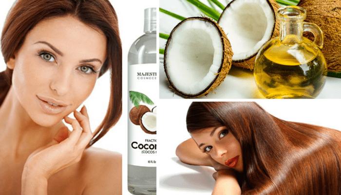 Mascarilla con aceite de coco para el cabello